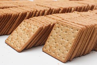 Cracker mit Leinsamen als veganes Produkt