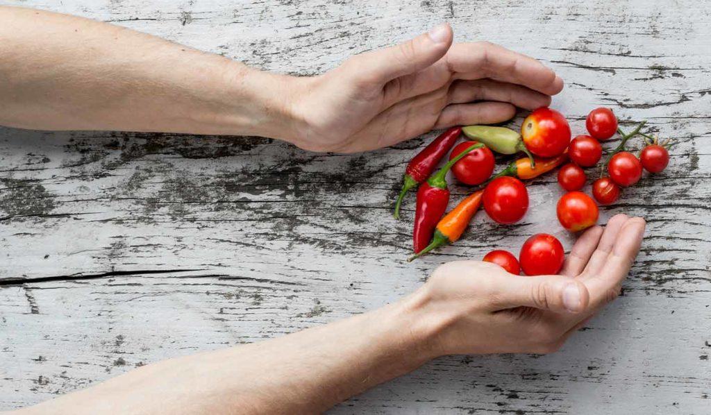 Roh vegan abnehmen bedeutet keine tierischen Produkte zu essen