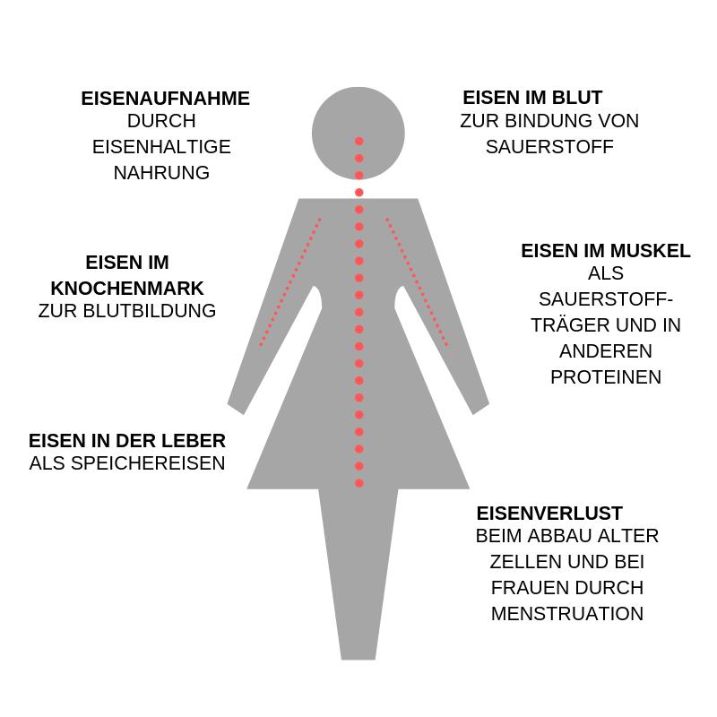 Infografik zu den Eigenschaften von Eisen