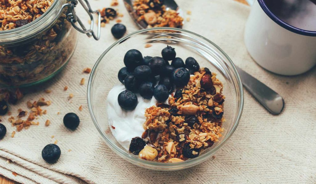 Joghurt selber machen ist das beste was Du machen kannst. Denn so kannst Du die ihn kalorienarm zubereiten ohne viel Zucker, was super zum vegan abnehmen ist