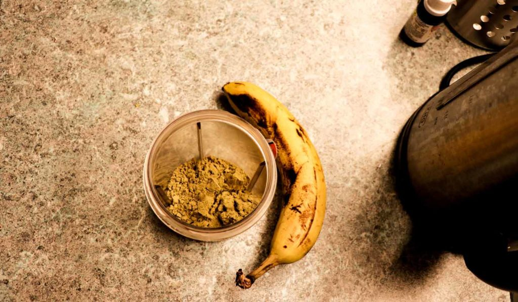 Mahlzeit nach dem Training bei Muskelaufbau vegan