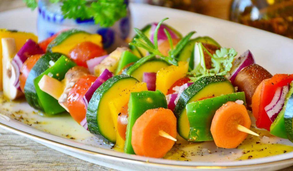 Gemüsespieße sind auch super fürs bbq
