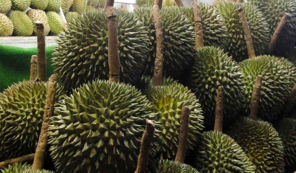 Auch die Durian ist pflanzlich und frei von Gluten. Sie unterscheidet sich von der Jackfrucht im Geschmack und Geruch