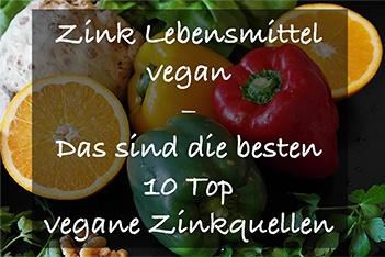 Bei einer veganen Ernährung solltest du ausreichend Zink zu dir nehmen.