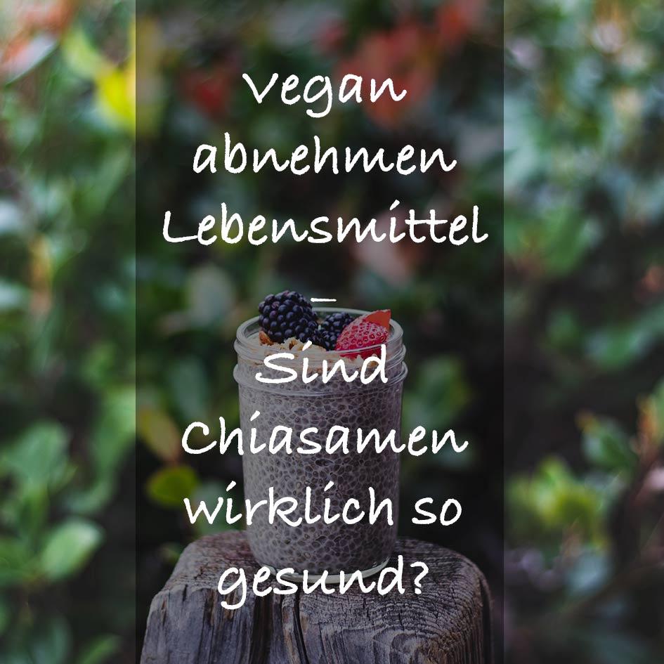 vegan Gewicht verlieren mit Chiasamen